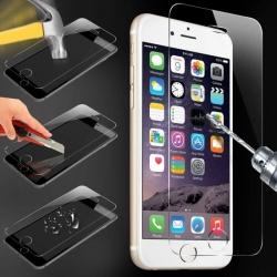 Vitre protection VERRE trempé Film protecteur d'écran iPhone 6, 6s, 6 Plus, 7, 7 Plus, SE 4, 4s, 5, 5c, 5s